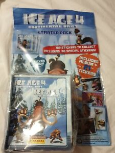 ICE AGE 4 CONTINENTAL DRIFT STICKER COLLECTION 50 PACKETS  & STARTER PACK NEW