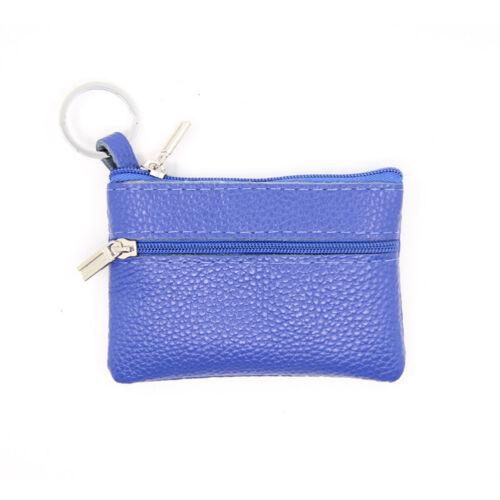 KQ/_ AU/_ Genuine Leather Coin Pouch Wallet Car Key Case Holder Women Keyring HB