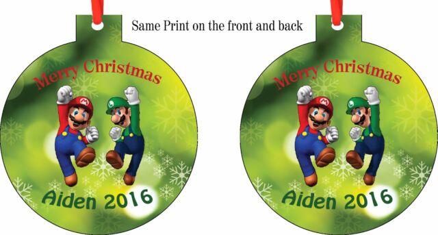 Super Mario Christmas Stocking.Personalized Super Mario Luigi Bros Christmas Ornament Add Any Name You Want