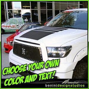 Toyota Tundra TRD Hood Blackout Stripes Decal Fully - Custom tundra truck decals