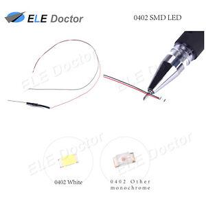 10-un-100-un-0402-0603-0805-1206-SMD-LED-Blanco-Calido-Rojo-Azul-DC9-12v-pre-cableado