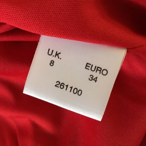 Uk Big Work Jacket Red Black 8 Bright Size con Button Smart Minuet YwzSqq