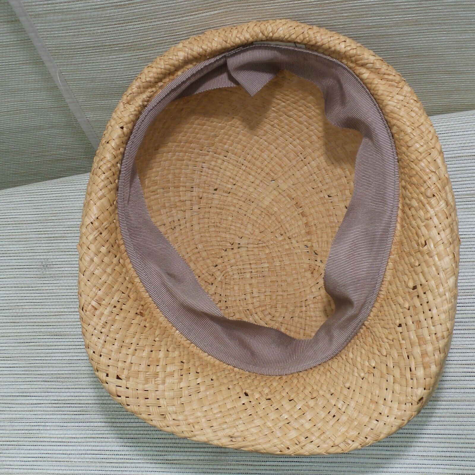 Straw Cabbie Hat Cap Union Made Natural Newsboy M… - image 7