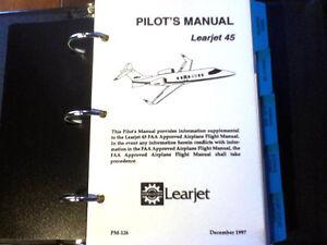 bombardier learjet 45 pilot s manual ebay rh ebay com Learjet 45 Interior Learjet 60 Interior