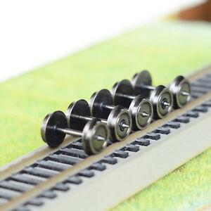 10-x-36-039-coppery-Nickel-plating-metal-wheels-for-Model-Train-1-87-HO-OO-Scale