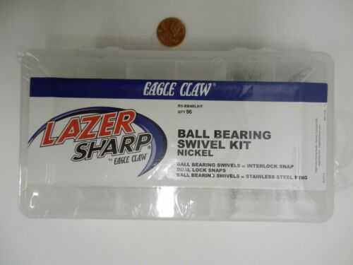 Lazer Ball Bearing Swivel Kit; Assorted Sizes 96 ct Eagle Claw  #RX-BBNKLKIT