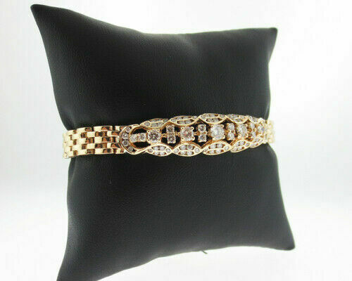 Details about  /2CT Round Cut Diamond 14K Yellow Gold Over Exclusive Bracelet For Special Gift