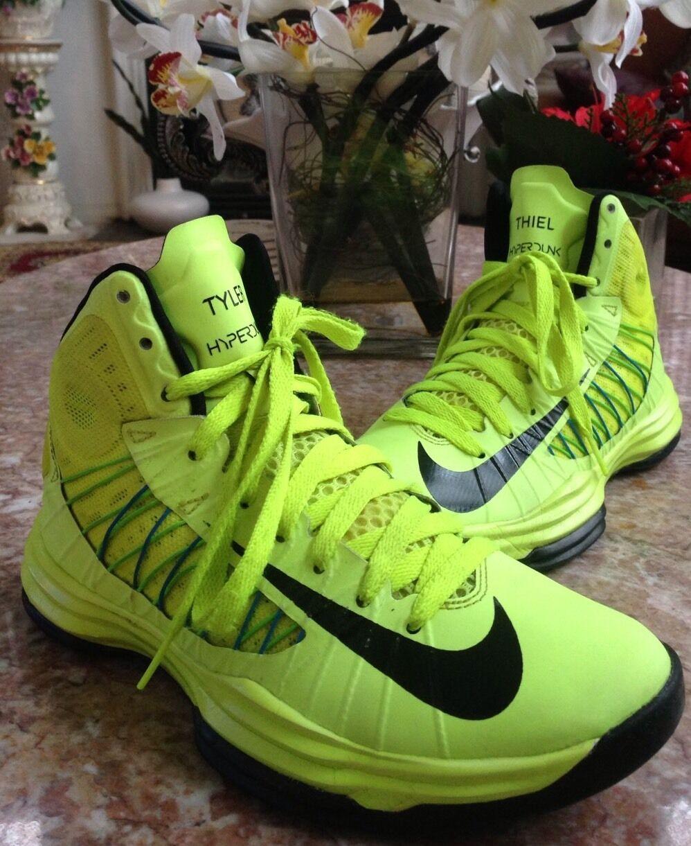 Nike hyperdunk iD Neon Green Black Sneakers Mens Size  6.5 (553201-991) EUC