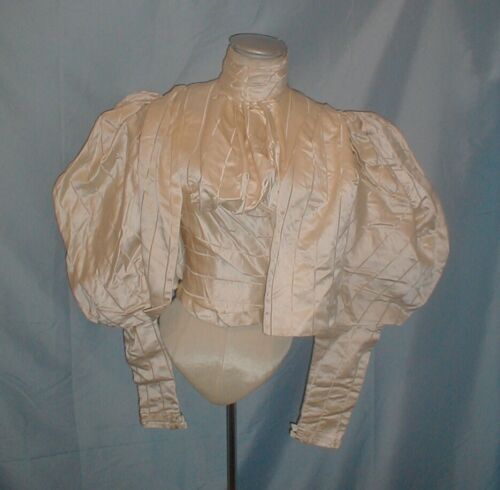 Vintage Antique  Dress Bodice Victorian 1890's Whi