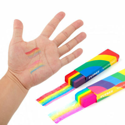 Rainbow Fan Brush for Gay Pride Face and Body Make up Dance Party Accessory