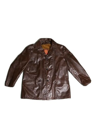 Vintage 70's Schott NYC Leather Jacket 44 Genuine