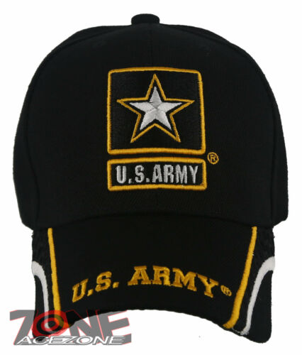 NEW US ARMY STRONG SIDE LINE STAR CAP HAT BLACK