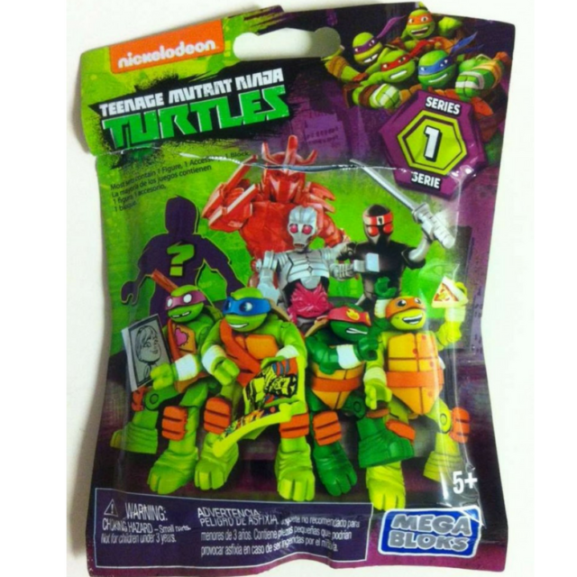Teenage Mutant Ninja Turtles  Mega Bloks Figure One Random Blind Bag Only NEW