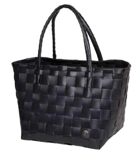 Ecologico Tessuto Consegnato Black Spalla Nera Cestino Borsa Paris Da Shopper OXPukZi