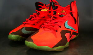 ff6fed6ab8aea VNDS Nike Lebron XI 11 Elite SZ 9.5 Super Hero Pack 642846-600 Laser ...