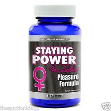 Female Sexual Arousal Orgasm Booster Pill Staying Power RX Pleasure Formula