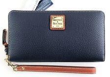 Fuchsia Pink Dooney /& Bourke WCLNS3155 Collins Zip Leather Clutch Wallet