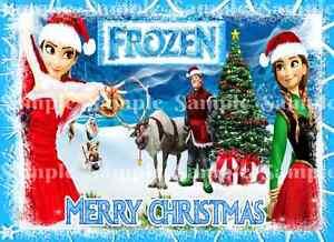 Immagini Buon Natale Disney.Principessa Disney Congelato Elsa Olaf Anna Buon Natale Party Glassa Cake Topper Ebay