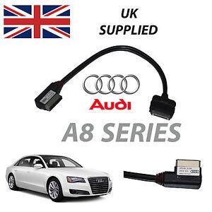 rojo Nuevo Audi Q7 Serie AMI MMI 4f0051510r Iphone Ipod Audio y Video Cable Usb