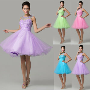 CORTO-MINI-formale-ballo-vestito-a-Tutu-da-sera-party-Homecoming