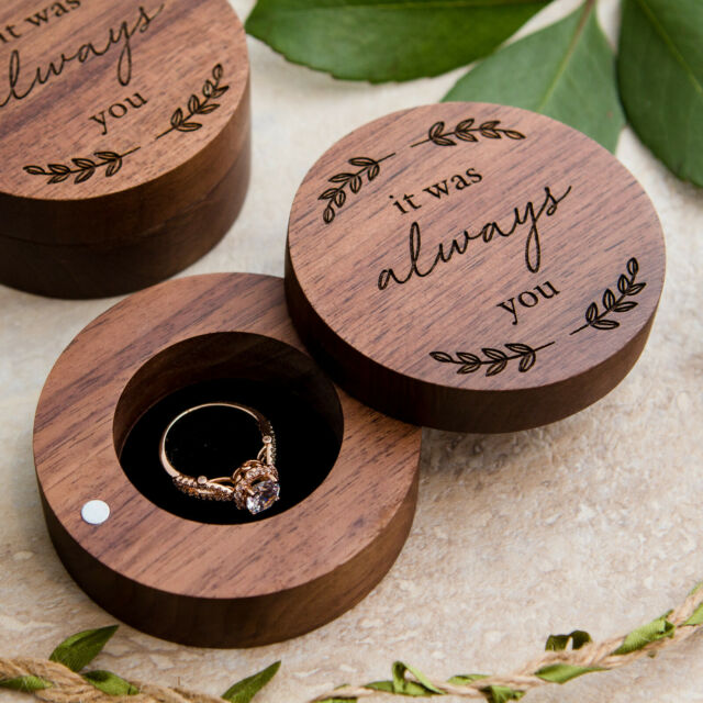 Personalized Rustic Ring Box Wooden Wedding Box Wedding Ring Box For Ceremony Ring Bearer Box Custom Ring Box, Handmade Ring Holder