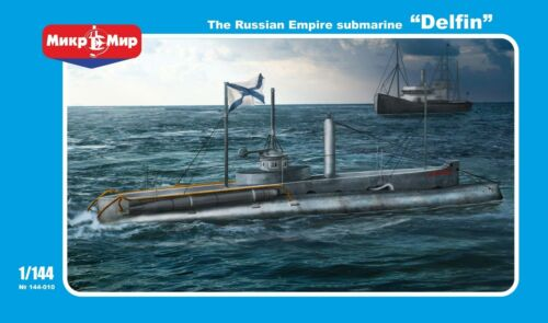 1144 Russian Empire submarine Delfin NEW Mikromir model, with PE!