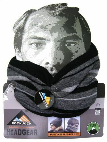 Snood  4 colours Mens Reversible Neck Warmer Hat fast post Scarf