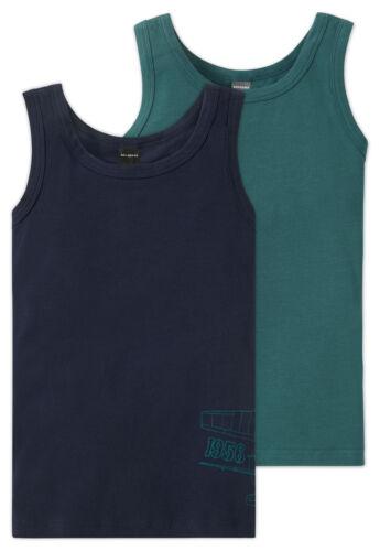 Schiesser Set Confezione doppia Canotta Tank Top Shirt giovani NUOVO