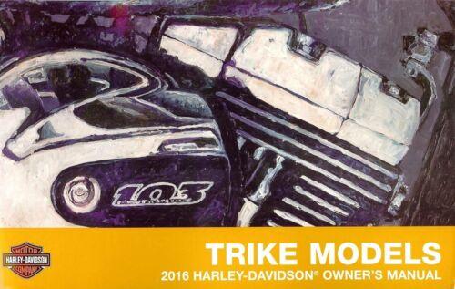 2016 HARLEY-DAVIDSON FLHTCUTG /& FLRT TRIKE OWNERS MANUAL-TRI GLIDE-FLHTCUTG-FLRT