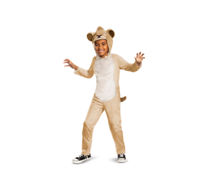 MEDIUM JUMPSUIT COSTUME PARTY LION 8-10 DISGUISE SIMBA Child SMALL 4-6