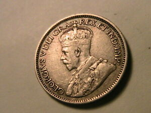 1912-Canada-10-Cent-Silver-F-aVF-George-V-British-King-Canadian-Ten-Cents-Coin