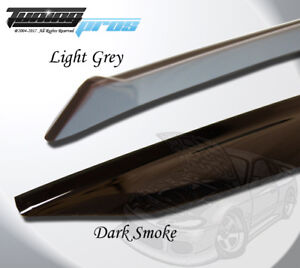 Light Smoke Outside Mount Vent Visor Deflector 4pcs For 2009-2013 Kia Soul
