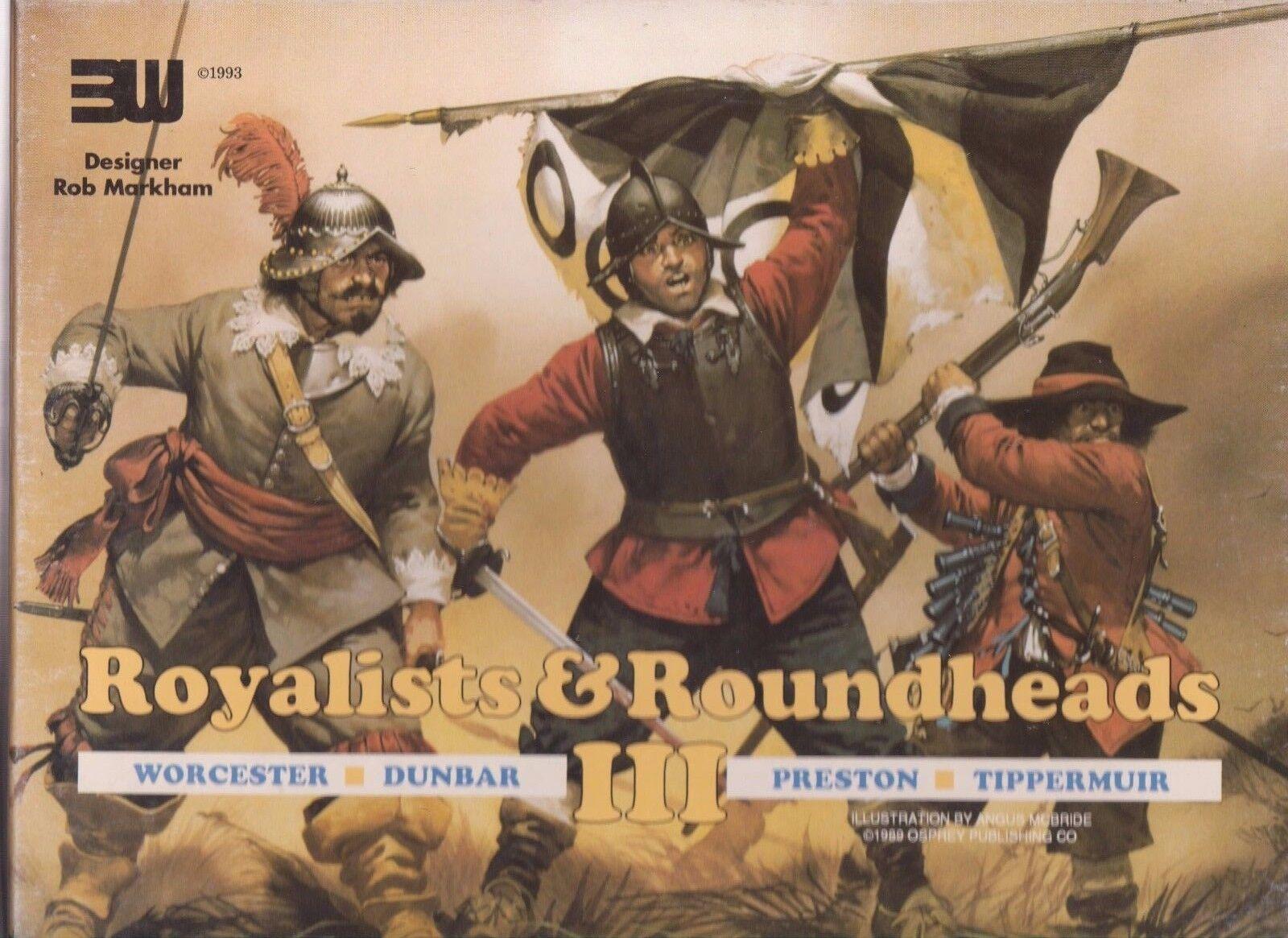ROYALISTS & ROUNDHEADS III - ENGLISH CIVIL WAR QUADRIGAME - WARGAME 3W
