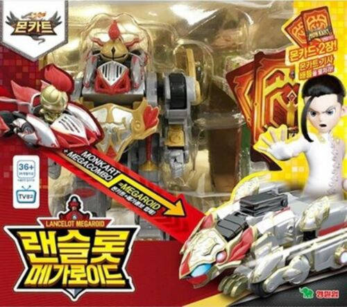 MEGACOMBO MEGAROID 7-Transformer Robots Mini Cars Card Play Kids Toy MONKART