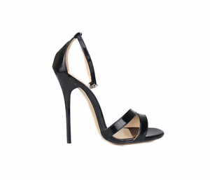 BLACK BARELY THERE HIGH HEEL stiletto