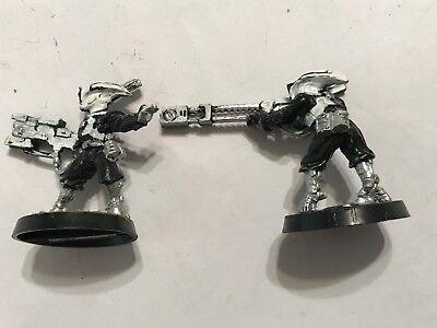 2 Metal Games Workshop Gw Warhammer 40k 40' 000 Tau Empire Warrior Figure-mostra Il Titolo Originale Forte Imballaggio