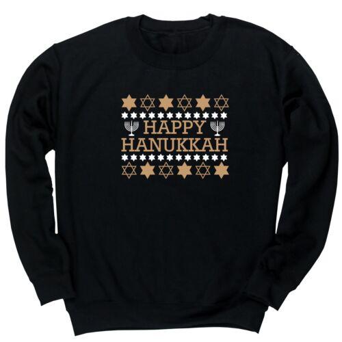Happy Hanukkah unisex jumper sweatshirt pullover celebration event happiness