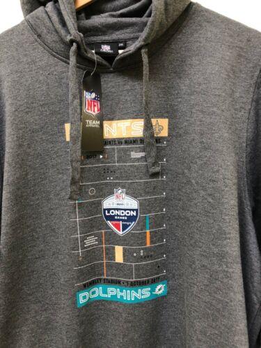 New 2XL Charcoal Saints Vs Dolphins Men/'s NFL Event Hoodie