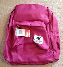 "New Balance Classic Pink Backpack Bookbag NB-1230 16"" X 11"" Pink Glo NWT"