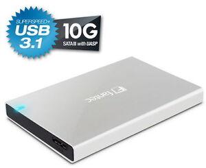 750-GB-SATA-discos-duros-en-el-Fantec-alu-25b31-si-2-5-034-carcasa-USB-3-1-10g