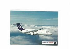 Hamburg Airlines issued BAe-146-300  cont/l  postcard #2