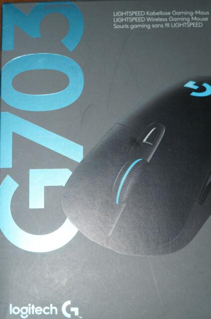 Logitech G703 Lightspeed Kabellos Gaming Mouse - Schwarz Mausrad defekt ohne OVP