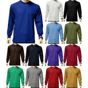 New-Mens-HEAVYWEIGHT-THERMAL-TOP-Long-Sleeve-Shirts-Underwear-Waffle-Color-Size