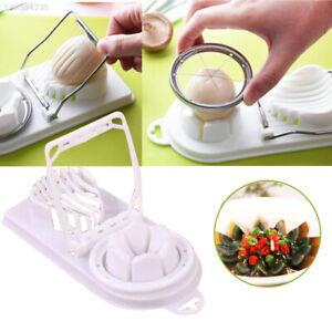 ACCIAIO-Inossidabile-Egg-Slicer-Cutter-FUNGO-GADGET-DA-CUCINA-CHOPPER-strumento-separatore