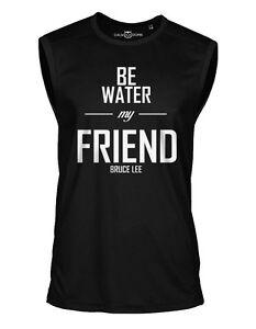 Bruce-Lee-Sleeveless-Shirt-Be-Water-My-Friend-Sport-Trikot-Jersey