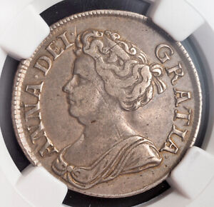 1711, Great Britain, Queen Anne.Nice Silver Shilling Coin. Key-Date! NGC XF-40!