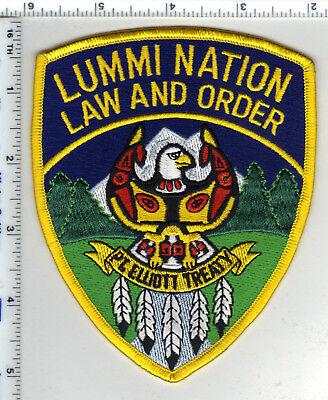 LUMMI NATION WASHINGTON TRIBAL LAW ENFORCEMENT SHOULDER PATCH NICE!