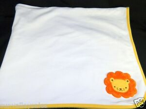 60befc2d3261 Gymboree Lion Reversible Yellow   White Baby Blanket 100% Cotton
