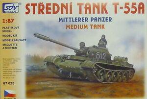Moyenne chars t-55a, HO, 1/87, SDV, Plastique, * NOUVEAU *