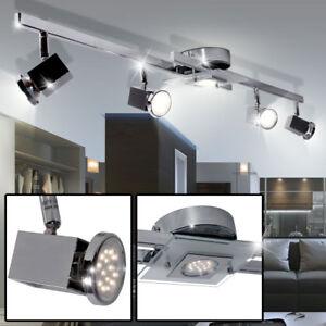 LED-Deckenleuchte-Arbeitszimmer-Licht-Schiene-Strahler-Lampe-Glas-Spots-drehbar